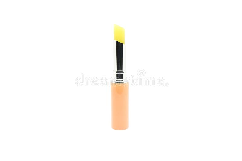 Lip balm stick isolated on white background.  royalty free stock image
