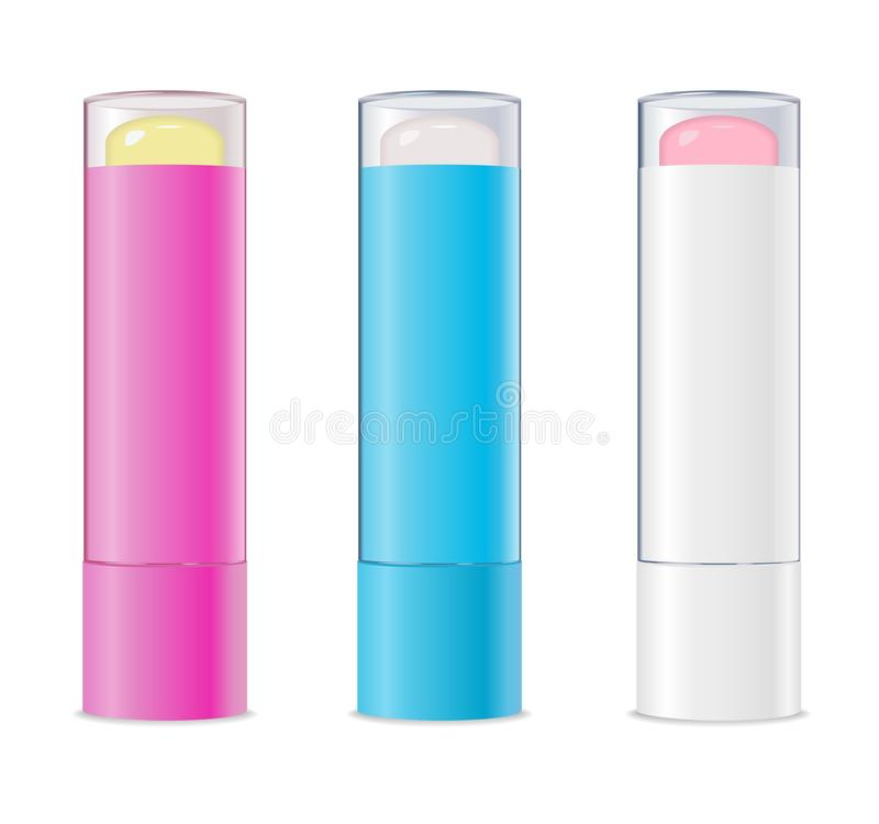 Lip balms. Vector royalty free illustration