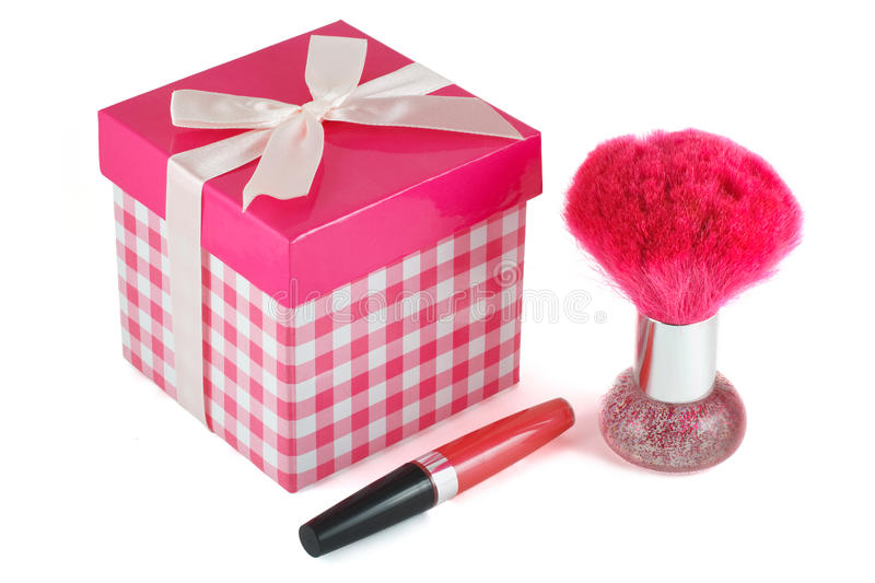 Download Lip Gloss, A Brush For Powder Stock Photo - Image: 26634460