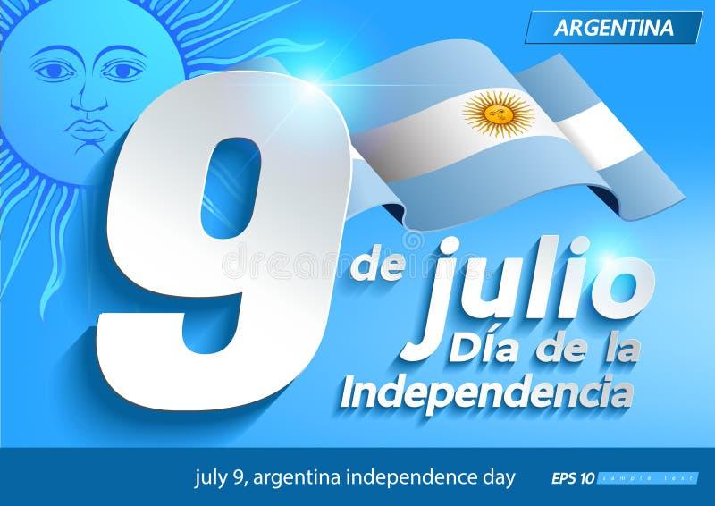 Lipa 9 Argentina dzień niepodległości ilustracja wektor