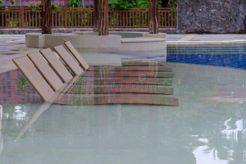 Lipa 15,2017 pływacki basen przy willi escudero, Laguna, Philippin obraz stock