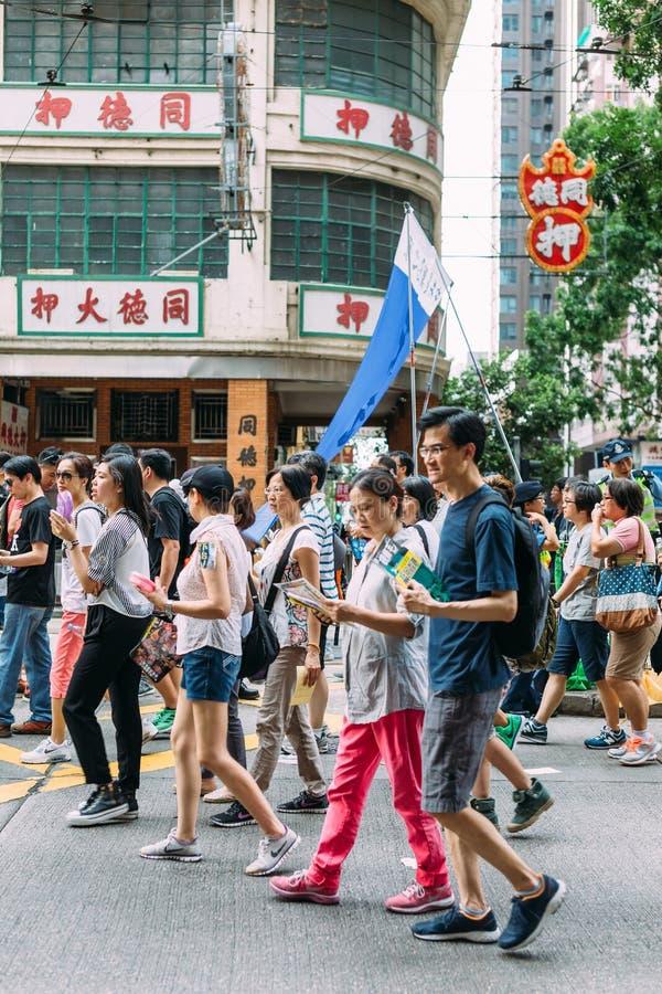 1 Lipa protest w Hong Kong zdjęcia stock