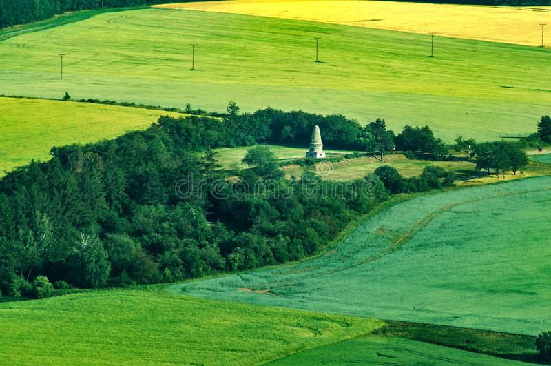 Lipanyheuvel en Lipany-mohyla stock fotografie