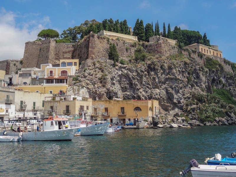 Lipari в Италии стоковые фото