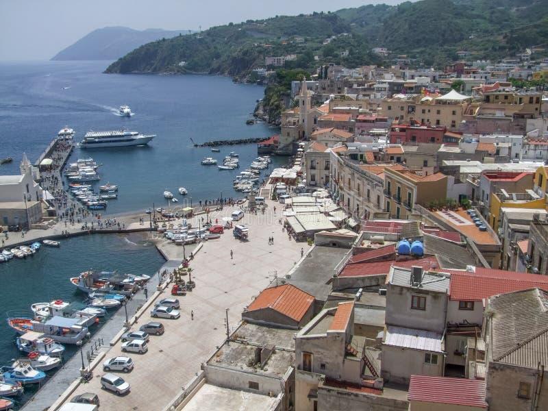 Lipari в Италии стоковая фотография rf
