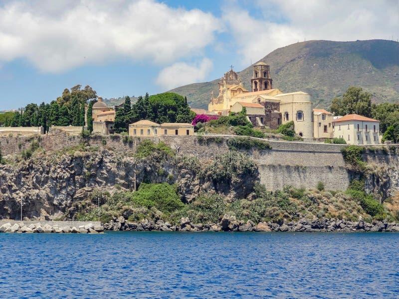 Lipari в Италии стоковые фотографии rf