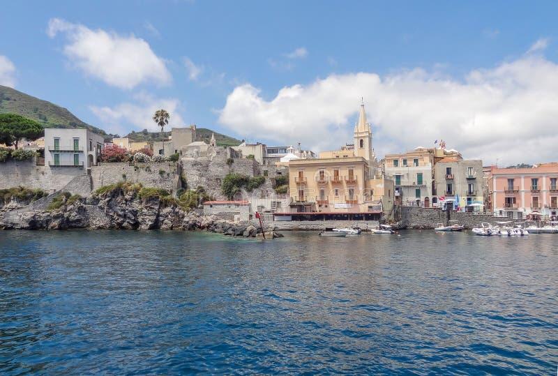 Lipari в Италии стоковое изображение