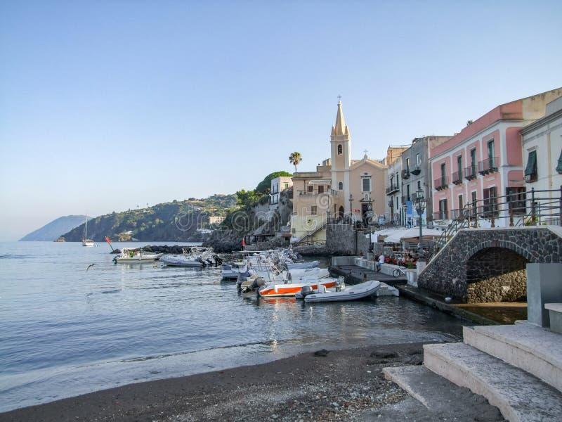 Lipari в Италии стоковые изображения