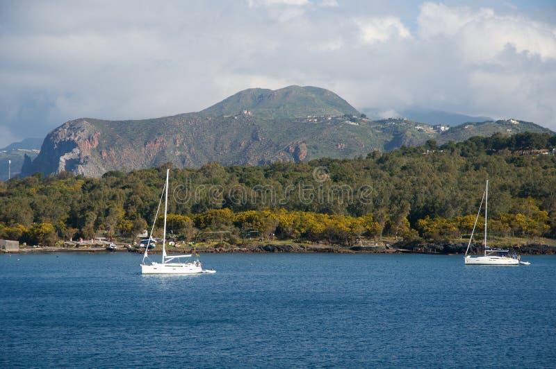 Lipari, islas eólicas, Italia foto de archivo
