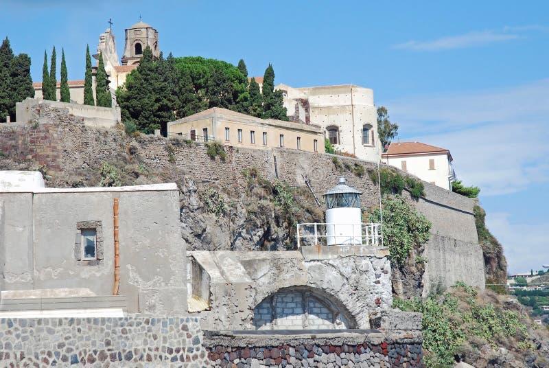 Lipari, Italy, View from marina corta stock images