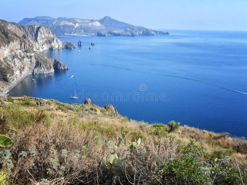 Lipari wyspa, Sicily, Włochy obraz stock