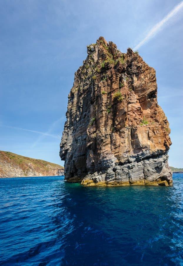 Lipari wyspy Długa Denna sterta, Sicily, Włochy fotografia royalty free