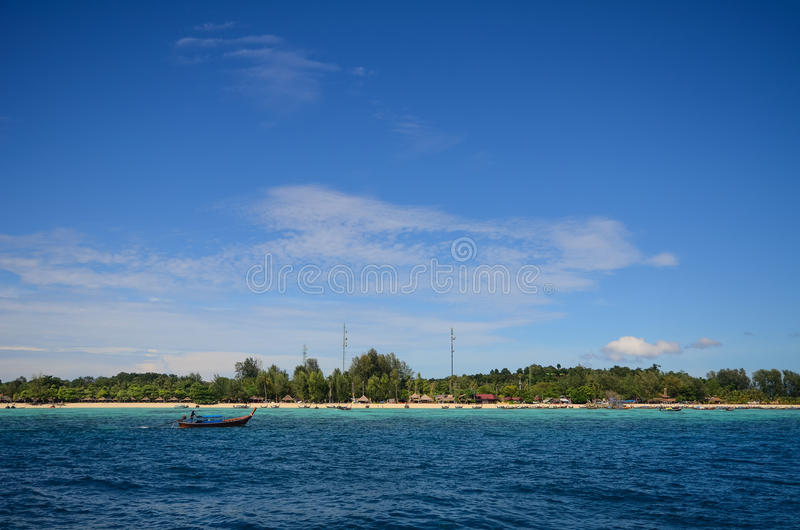 Lipe island, Thailand. In a sunny day royalty free stock images