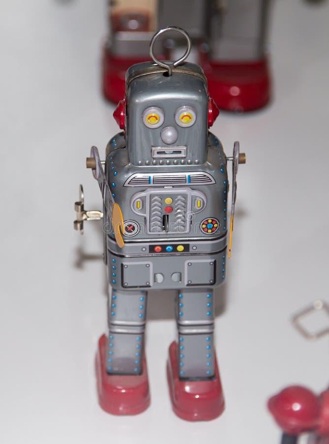 Lipetsk, Российская Федерация 16-ое января 2018: Модельный робот на выставке роботов в городе Lipetsk стоковое фото
