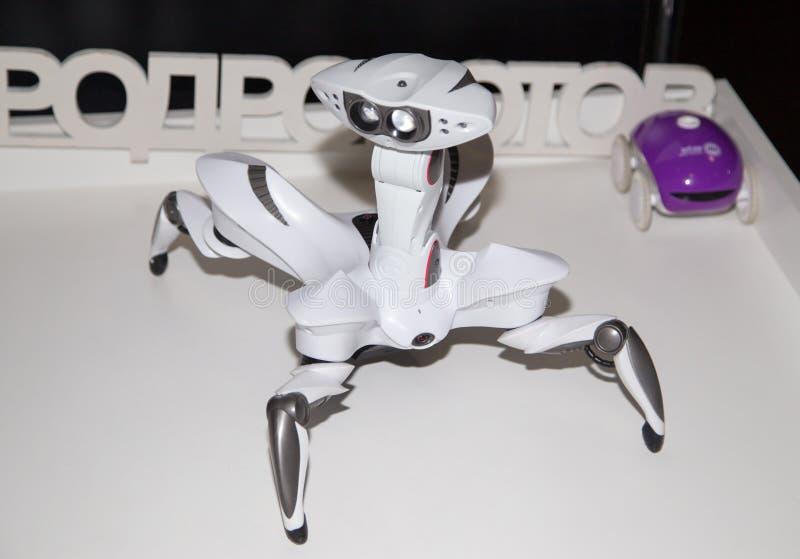 Lipetsk, Российская Федерация 16-ое января 2018: Модельный робот на выставке роботов в городе Lipetsk стоковые изображения