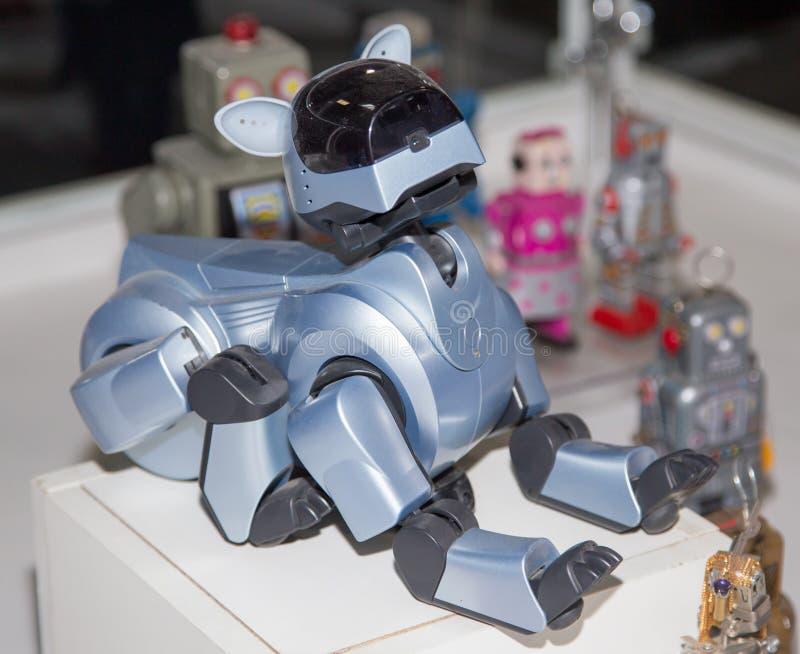 Lipetsk, federacja rosyjska Styczeń 16, 2018: Wzorcowy robot przy wystawą roboty w mieście Lipetsk zdjęcia stock