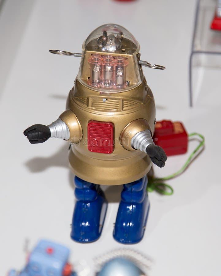 Lipetsk, Russische Federatie 16 Januari, 2018: Modelrobot bij de tentoonstelling van robots in de stad van Lipetsk stock fotografie