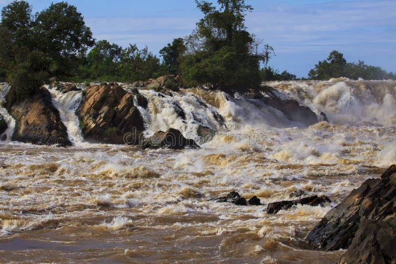 Liphi-Wasserfälle im champasak südlich von Laos stockbild