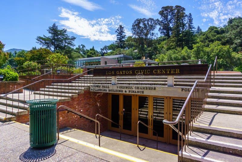 Lipiec 30, 2018 Los Gatos, CA, usa/- Los Gatos Civic Center w południowym San Francisco zatoki terenie, Kalifornia obraz royalty free