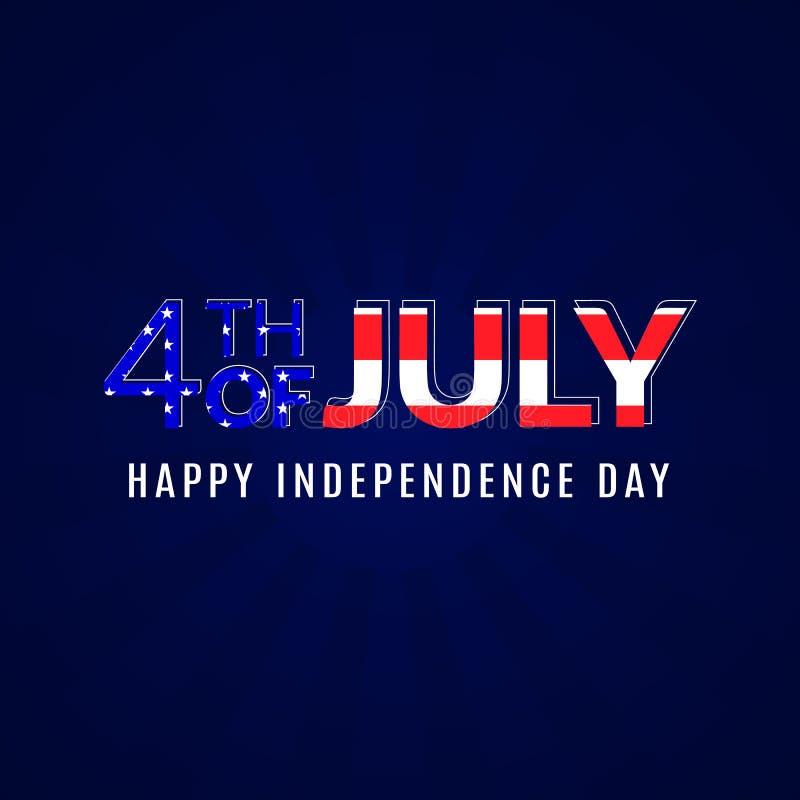 4 Lipiec niezależności Amerykański plakat royalty ilustracja
