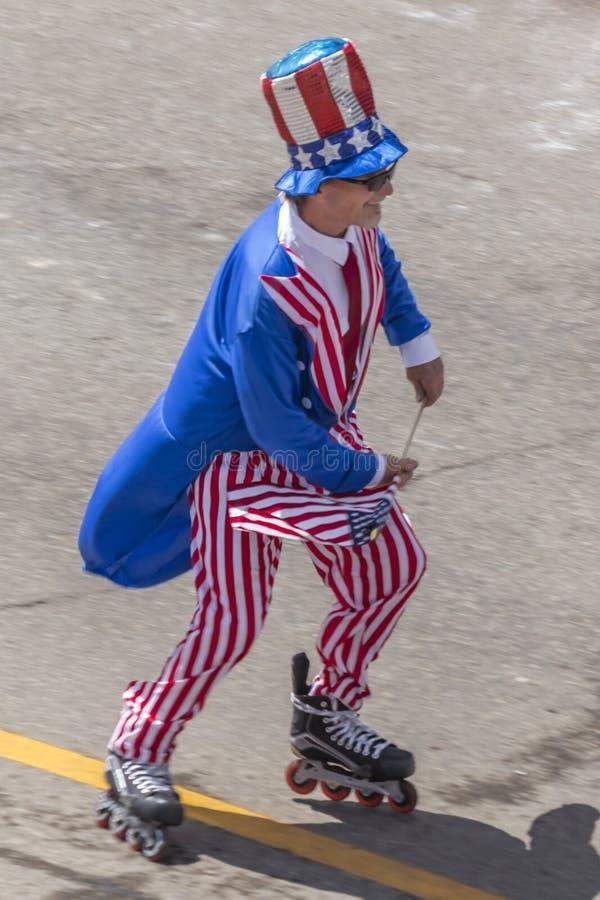 Lipiec 4, 2018 - Roczna dzień niepodległości parada, Telluride, kolor obrazy royalty free