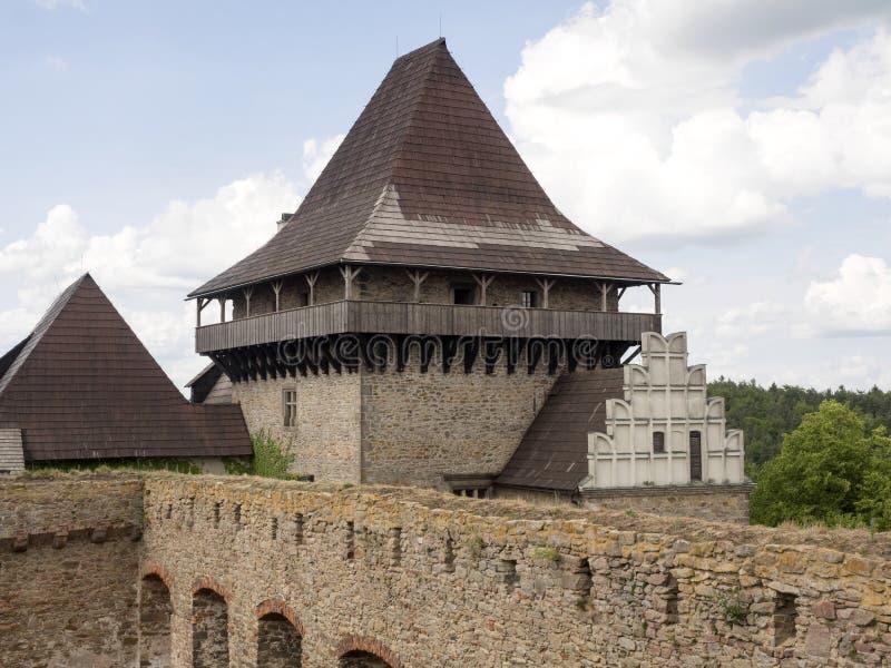 Lipnicekasteel van bij het begin van de veertiende eeuw, Tsjechische Republiek stock foto's
