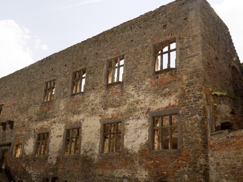 Lipnicekasteel van bij het begin van de veertiende eeuw, Tsjechische Republiek stock foto