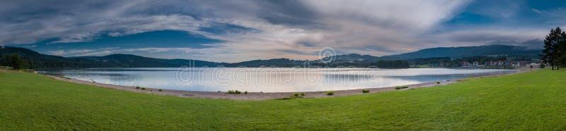 Lipno - het Reservoir van het Water - Panorama royalty-vrije stock afbeelding