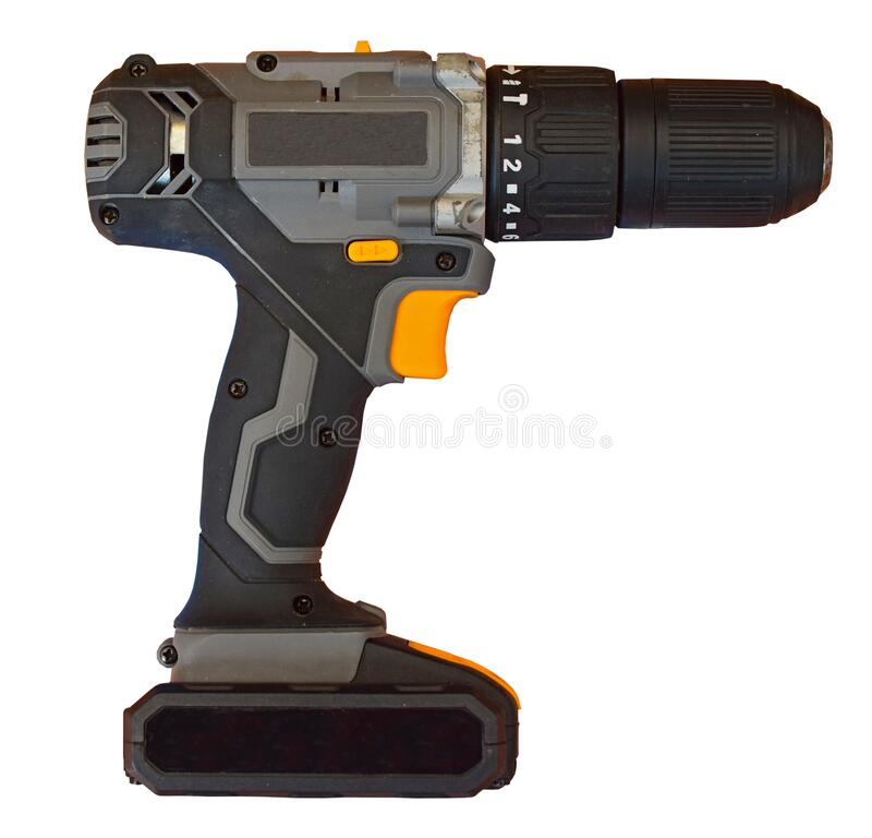 Battery Operated  Drill Isolated On A Clear Background PNG stock images