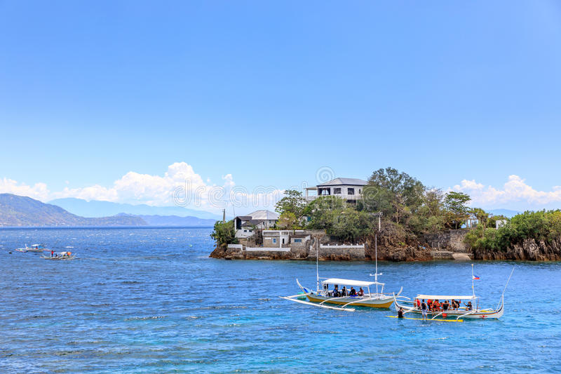Lipo Island - Diving, snorkeling point in Anilao. Batangas, Philippines royalty free stock image