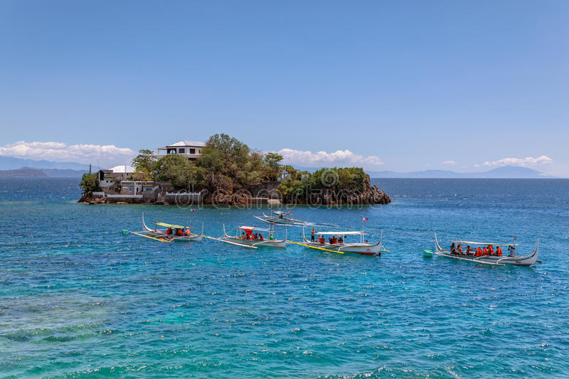 Lipo Island - Diving, snorkeling point in Anilao. Batangas, Philippines royalty free stock photography