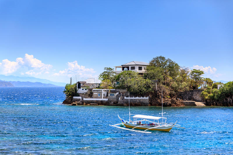 Lipo Island - Diving, snorkeling point in Anilao. Batangas, Philippines stock photos