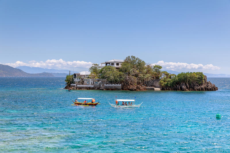 Lipo Island - Diving, snorkeling point in Anilao. Batangas, Philippines stock photography