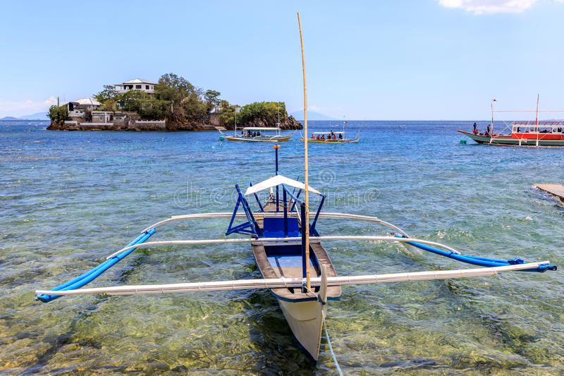Lipo Island - Diving, snorkeling point in Anilao. Batangas, Philippines royalty free stock images