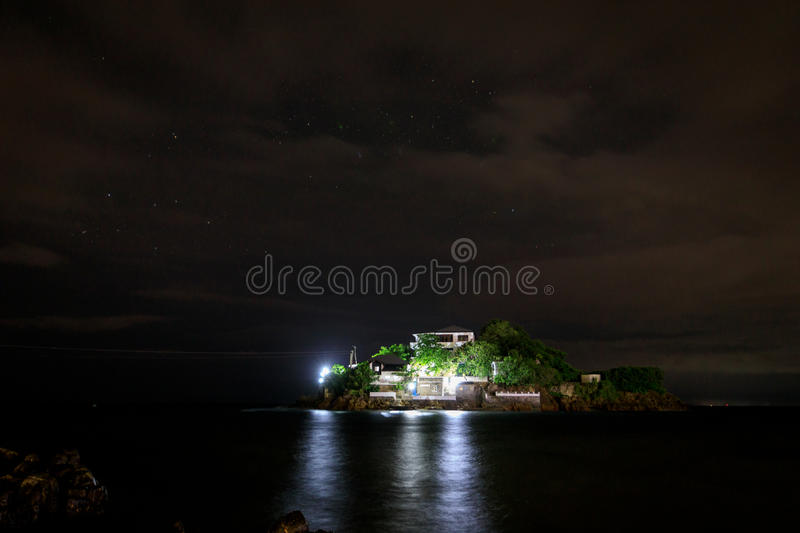 Lipo Island, Diving, snorkeling point at night in Anilao, Batangas. Philippines stock photography