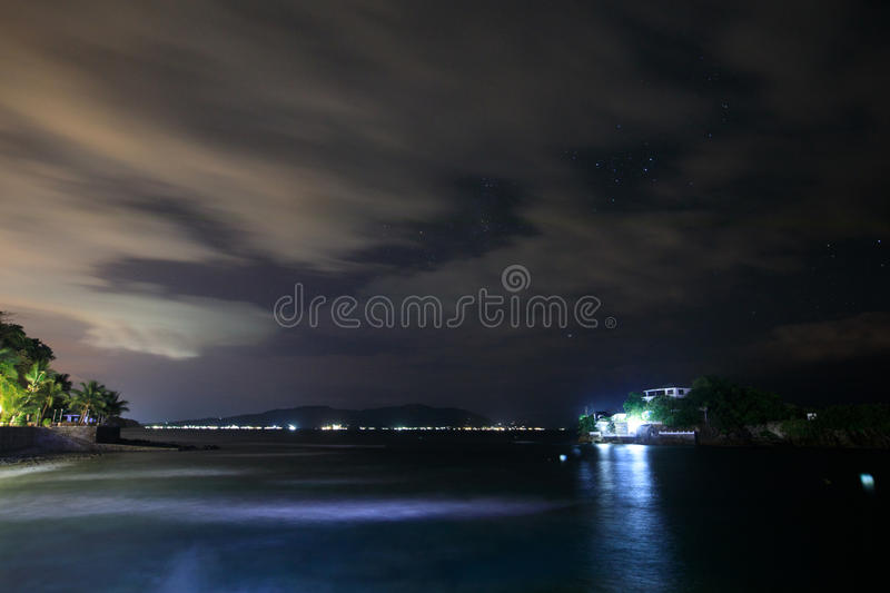 Lipo Island, Diving, snorkeling point at night in Anilao, Batangas. Philippines royalty free stock photo