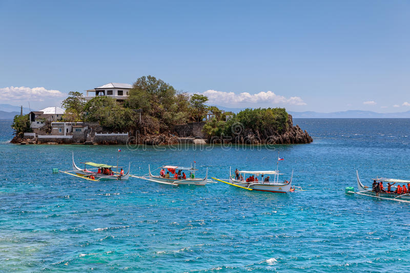 Lipo IslandDiving, snorkeling point in Anilao. Batangas, Philippines royalty free stock photography
