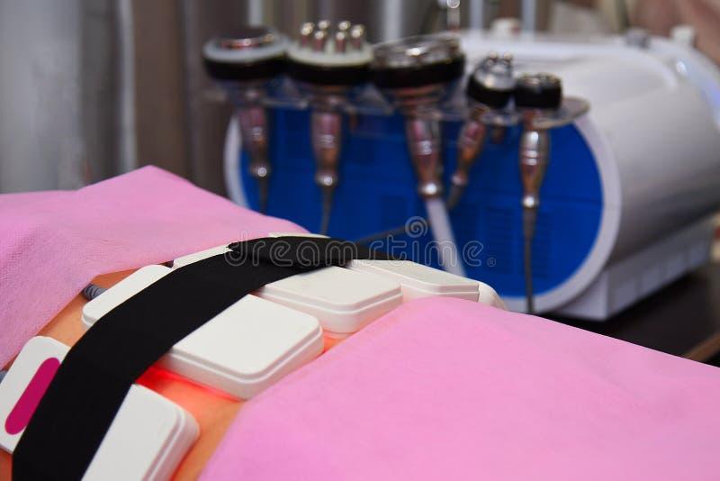 Lipo laser Narzędzia kosmetologia ciało opieki zdrowia spa nożna kobieta wody Non chirurgicznie ciało sculpting ciało obrysowywa  zdjęcia stock