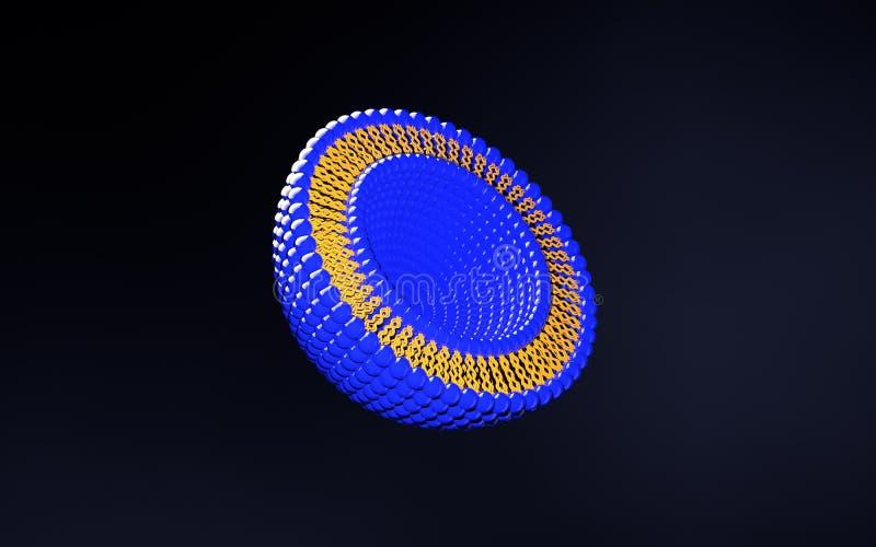Liposome warstwy struktury 3D ilustracja royalty ilustracja