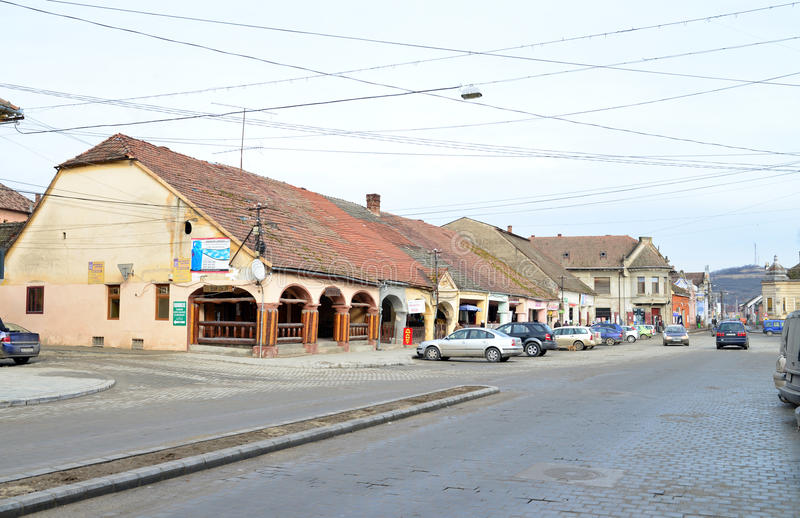 Lipova-Stadtzentrum lizenzfreies stockbild
