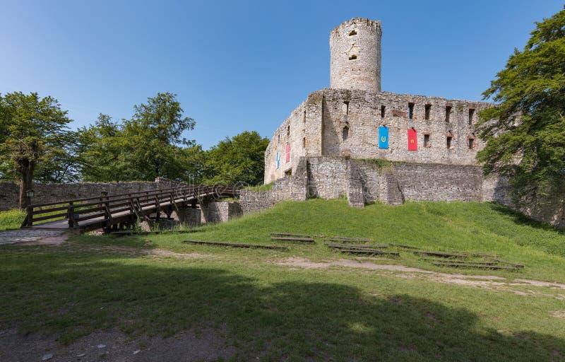 Lipowiec Castle. Ruins of the Krakow Bishops castle in the Polish Jura stock photo