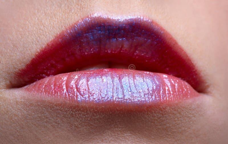 Download Lippen des Mädchens stockfoto. Bild von schönheit, mädchen - 9098070