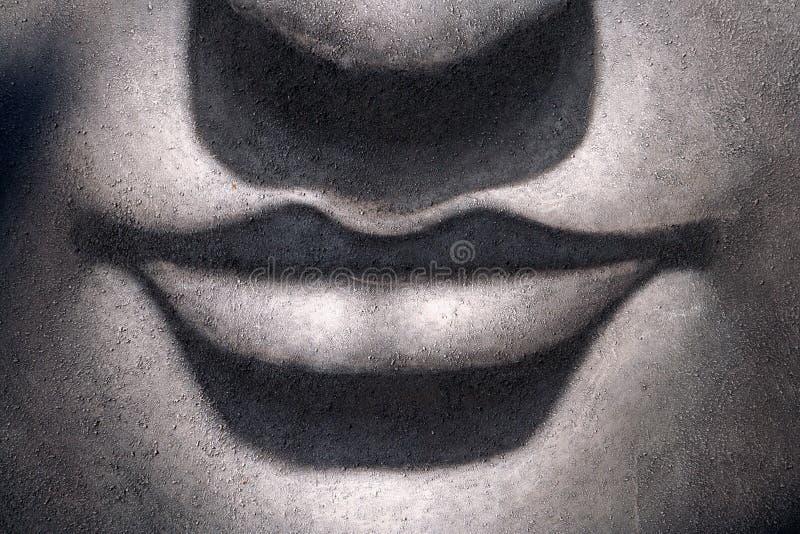 Lippen en neus Boedha stock afbeeldingen