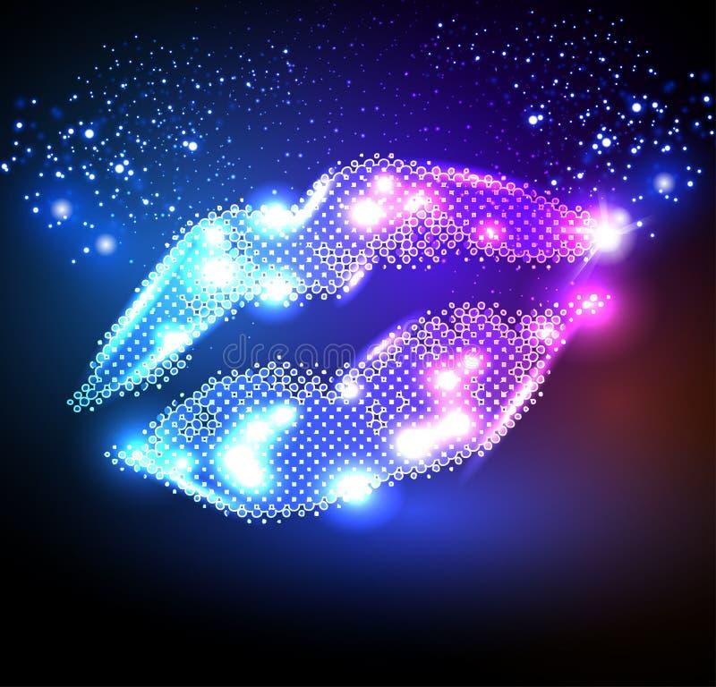 Lippen für Ihr Plakat vektor abbildung