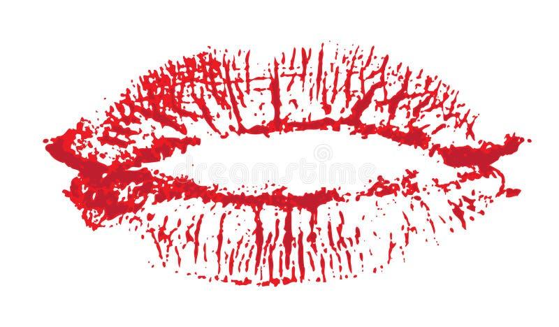 Lippen, Kuss gefärbt vektor abbildung. Illustration von