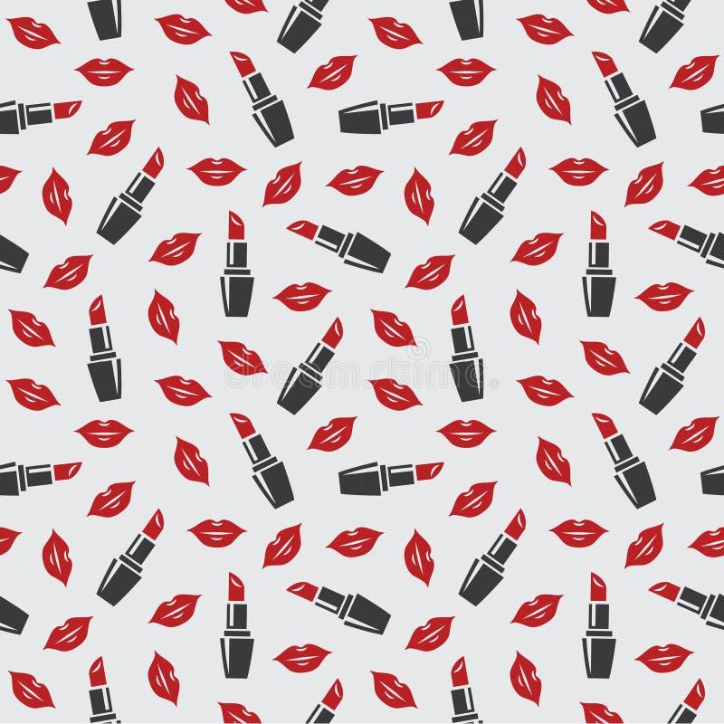 Lippen und Lippenstift lizenzfreie abbildung