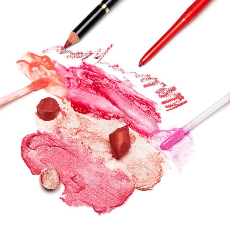Lippenmake-upkosmetik lizenzfreie stockbilder