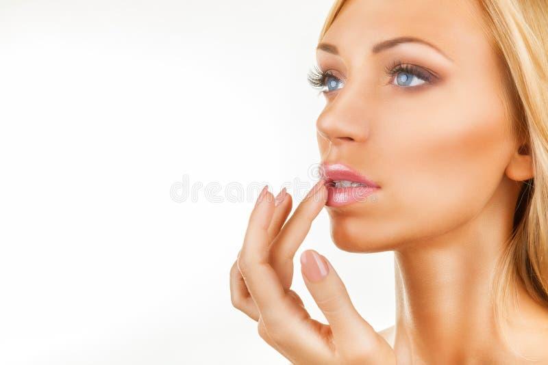 Lippenpommade stock foto's