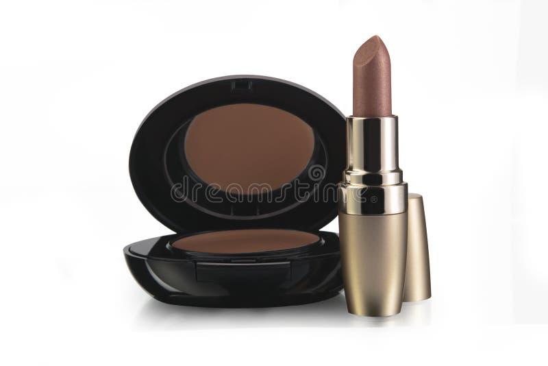 Lippenstift en make-up royalty-vrije stock afbeeldingen