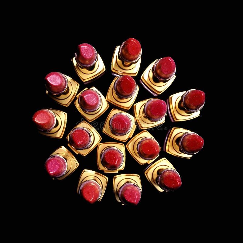 Lippenstift-Rosette stockfotografie